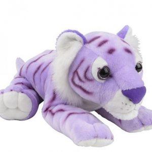 Peluche tigre couleur lavande